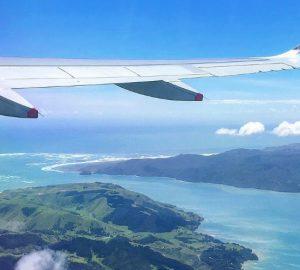 Orte aus dem Flugzeugfenster