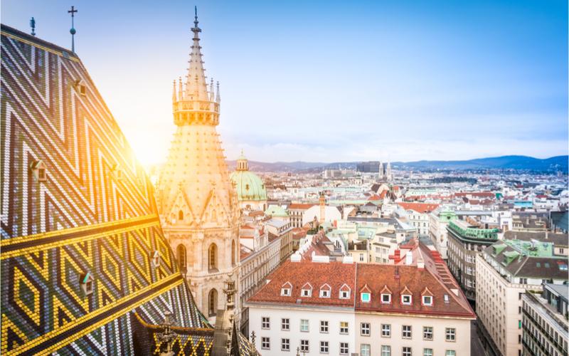 heißen Sommertage in Wien