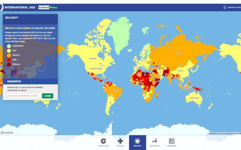 Travel Risk Map: Das sind die sichersten und die